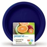 Image of Preserve - Reusable Recycled Plastic Plates Large Midnight Blue - 8 Pack(s)