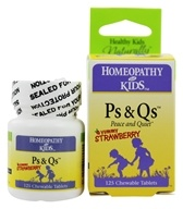 Herbs for Kids - Ps & Qs Peace and Quiet Yummy Strawberry - 125 Chewable Tablets, from category: Homeopathy