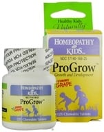 Herbs for Kids - ProGrow Growth and Development Yummy Grape - 125 Chewable Tablets, from category: Homeopathy