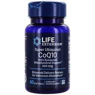 Life Extension - CoQ10 Super Ubiquinol With Enhanced Mitochondrial Support 100 mg. - 60 Softgels