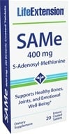 Life Extension - SAMe S-Adenosyl-Methionine 400 mg. - 20 Tablets - $21