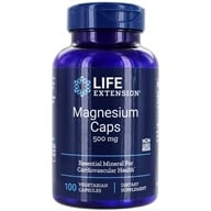Life Extension - Magnesium Caps 500 mg. - 100 Vegetarian Capsules (737870145912)