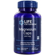 Life Extension - Magnesium Caps 500 mg. - 100 Vegetarian Capsules - $7.50