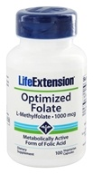 Life Extension - Optimized Folate L-Methylfolate 1000 mcg. - 100 Vegetarian Capsules
