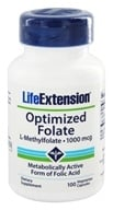 Image of Life Extension - Optimized Folate L-Methylfolate 1000 mcg. - 100 Vegetarian Capsules