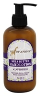 Out Of Africa - Shea Butter Hand Lotion Lavender - 8 oz.