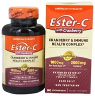 American Health - Ester-C Urinary Tract Formula 1000 mg. - 90 Vegetarian Tablets - $12.15