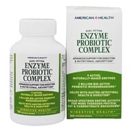 American Health - Enzyme Probiotic Complex Dual Action - 90 Vegetarian Capsules by American Health