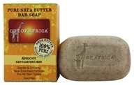 Out Of Africa - Organic Shea Butter Bar Soap Exfoliating Apricot - 3.75 oz. (856044001264)
