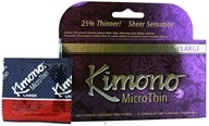 Image of Mayer Laboratories - Kimono MicroThin Lubricated Latex Condom Large - 12 Pack(s)