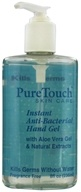 Pure Touch Skin Care - Instant Anti-Bacterial Hand Gel Fragrance-Free - 8 oz.