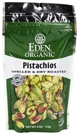 Eden Foods - Organic Pistachios Shelled & Dry Roasted - 4 oz. (024182000894)