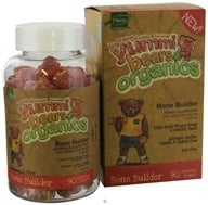 Hero Nutritional Products - Yummi Bears Organic Bone Builder - 90 Gummies - $21.47