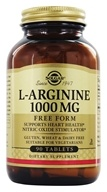 Solgar - L-Arginine Free Form 1000 mg. - 90 Tablets