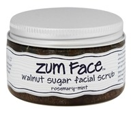 Indigo Wild - Zum Face Walnut Sugar Facial Scrub Rosemary-Mint - 5 oz. (663204355101)