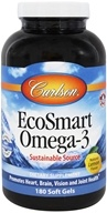 Carlson Labs - Norwegian EcoSmart Omega-3 Lemon Flavored 500 mg. - 180 Softgels Formerly CalaOmega High DHA Omega-3 From Calamari 1000 mg.