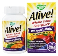 Nature's Way - Alive Women's Multi Vitamin & Mineral Whole Food Energizer - 90 Tablets, from category: Vitamins & Minerals