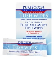 Pure Touch Skin Care - Individual Flushable Moist Tush Wipes Medicated - 24 Packet(s) (638242707007)