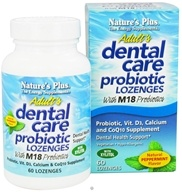 Nature's Plus - Dental Care Probiotic Lozenges Peppermint - 60 Lozenges - $20.48