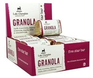 Lake Champlain Chocolates - Five Star Chocolate Bar Granola - 16 Bars