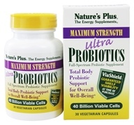 Nature's Plus - Ultra Probiotics With ViaShield Maximum Strength - 30 Vegetarian Capsules - $23.91