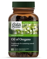 Gaia Herbs - Oil of Oregano Liquid Phyto-Caps - 120 Vegetarian Capsules