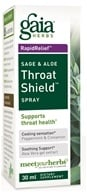 Gaia Herbs - Rapid Relief Immune Support Sage & Aloe Throat Shield Spray - 30 ml.