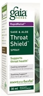Image of Gaia Herbs - Rapid Relief Immune Support Sage & Aloe Throat Shield Spray - 30 ml.