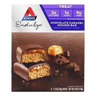 Atkins Nutritionals Inc. - Endulge Bar Chocolate Caramel Mousse - 5 Bars (637480075282)