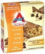 Atkins Nutritionals Inc. - Day Break Bar Chocolate Oatmeal Fiber - 5 Bars by Atkins Nutritionals Inc.