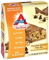 Image of Atkins Nutritionals Inc. - Day Break Bar Chocolate Oatmeal Fiber - 5 Bars