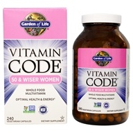 Garden of Life - Vitamin Code RAW 50 & Wiser Women's Multi Formula - 240 Vegetarian Capsules by Garden of Life