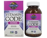 Vitamin Code RAW Women's Multi Formula - 240 Vegetarian Capsules by Garden of Life