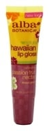 Alba Botanica - Alba Hawaiian Clear Lip Gloss Passion Fruit Nectar - 0.42 oz. (724742008741)