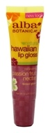 Image of Alba Botanica - Alba Hawaiian Clear Lip Gloss Passion Fruit Nectar - 0.42 oz.