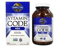 Vitamin Code RAW Men's Multi Formula - 240 Vegetarian Capsules by Garden of Life
