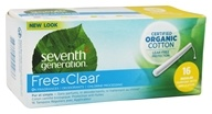 Seventh Generation - Chlorine Free Organic Cotton Applicator Regular Tampons - 16 Pack - $5.99
