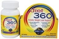 Garden of Life - Diet 360 Holistic Weight Loss Support - 90 Caplets (658010114165)