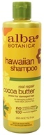 Alba Botanica - Natural Hawaiian Shampoo Cocoa Butter - 12 oz. (formerly Hair Wash Dry-Repair), from category: Personal Care