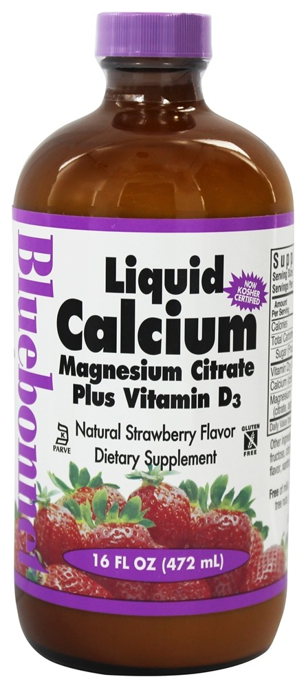 Bluebonnet Nutrition - Liquid Calcium Magnesium Citrate Natural Strawberry Flavor - 16 oz.