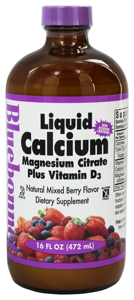 Bluebonnet Nutrition - Liquid Calcium Magnesium Citrate Natural Mixed Berry Flavor - 16 oz.