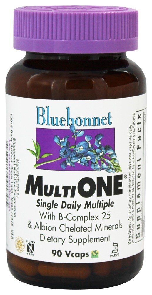 Bluebonnet Nutrition - Multi One Multivitamin & Multimineral - 90 Vegetarian Capsules