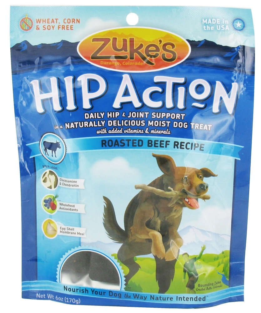 Zuke's - Hip Action Dog Treats Roasted Beef Recipe - 6 oz. CLEARANCE PRICED