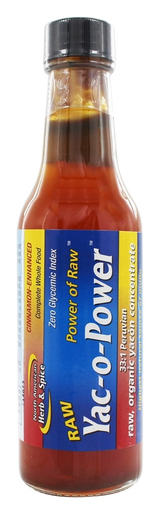 North American Herb & Spice - Power Of Raw Yac-o-Power Yacon Syrup Cinnamon Flavor - 5 oz.