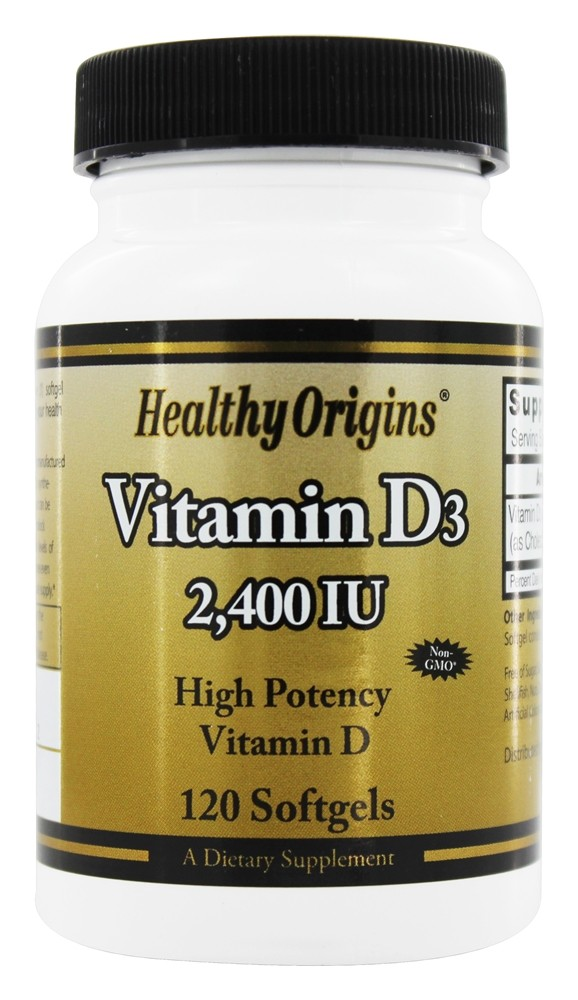 Healthy Origins - Vitamin D3 2400 IU - 120 Softgels