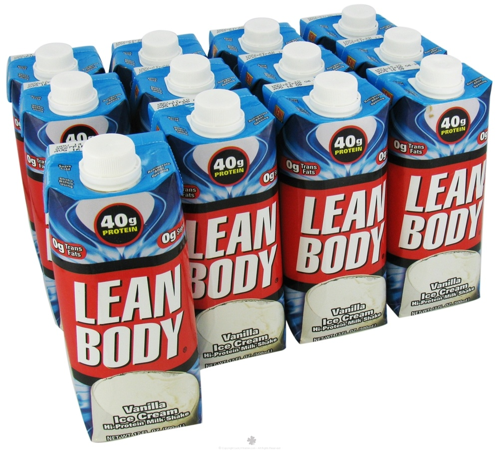 Labrada - Lean Body Hi-Protein Milk Shake RTD Vanilla Ice Cream - 17 oz.