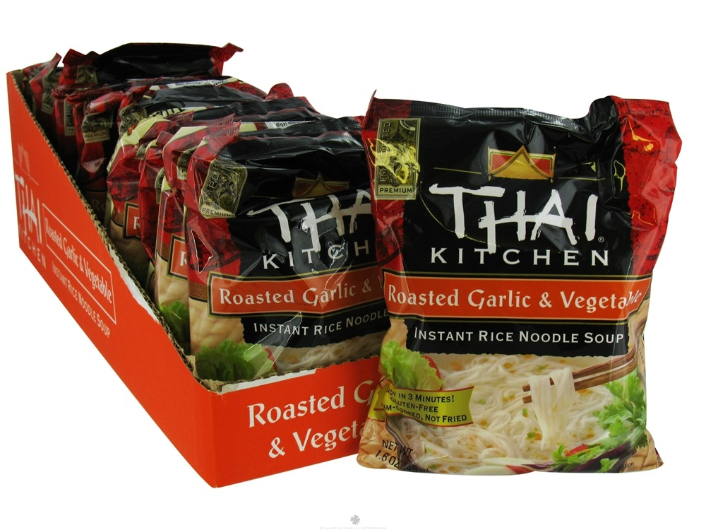 Thai Kitchen - Instant Rice Noodle Soup Roasted Garlic & Vegetable without I&G - 1.6 oz.