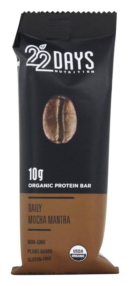 22 Days Nutrition - Vegan Energy Bar Daily Mocha Mantra - 1.7 oz.