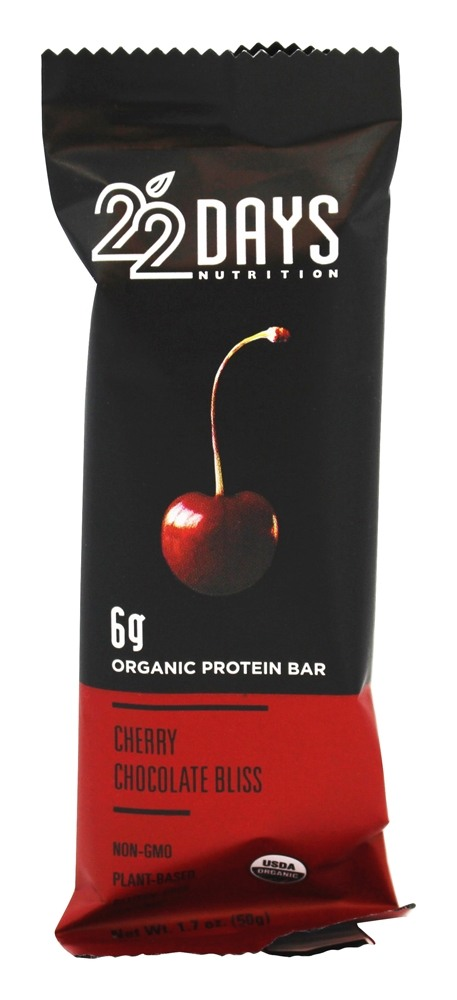 22 Days Nutrition - Vegan Energy Bar Cherry Chocolate Bliss - 1.7 oz.
