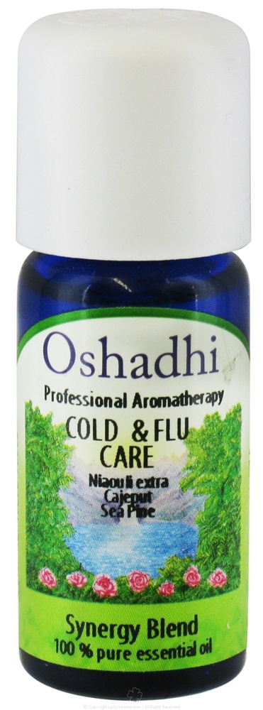 Oshadhi - Professional Aromatherapy Cold & Flu Synergy Blend Essential Oil - 10 ml.